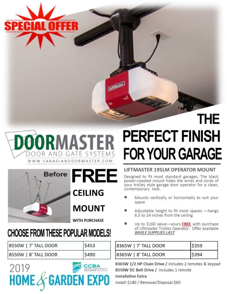 Free ceiling mount CanadianDoorMaster