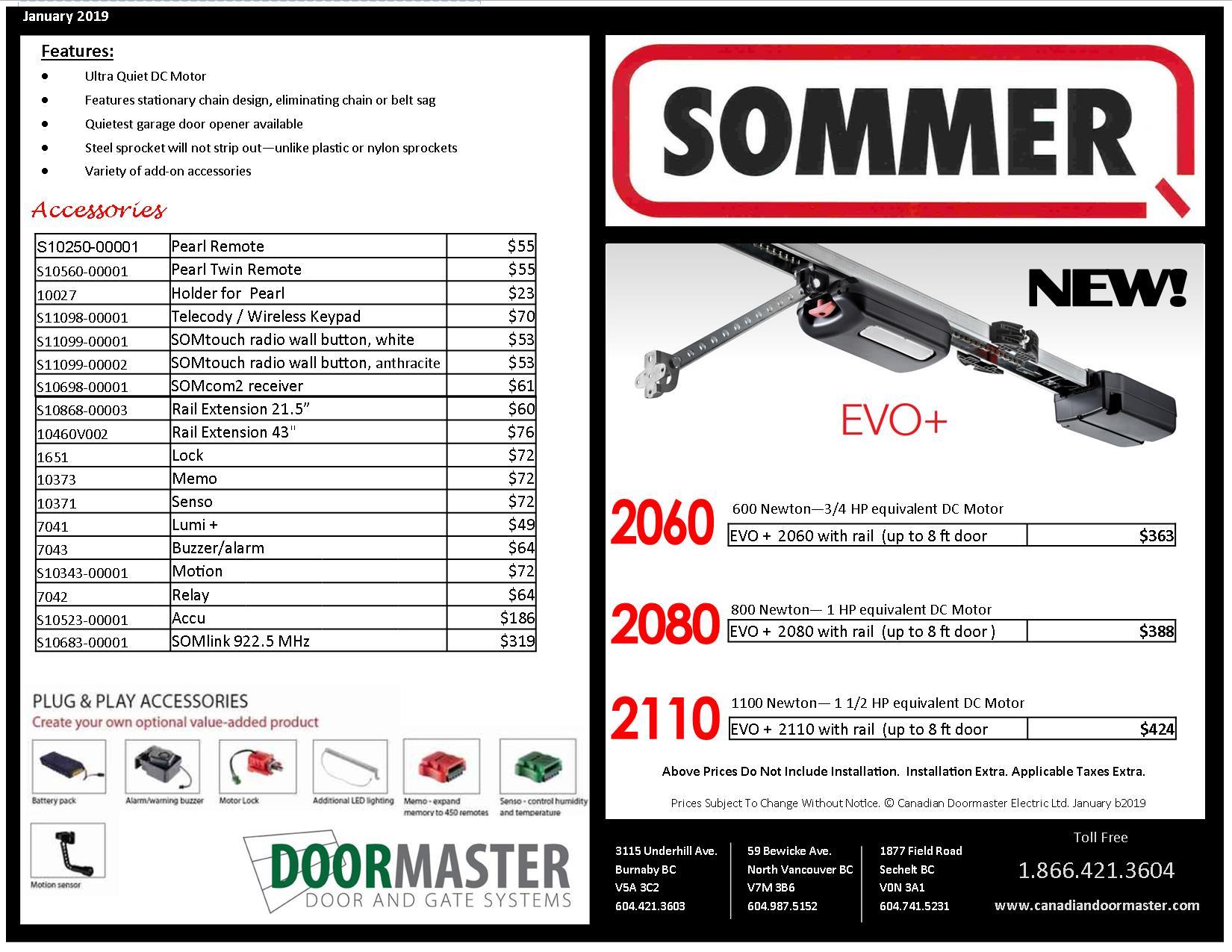 Sommer EVO Garage Door Lift Motor [SALE] * Canadian DoorMaster