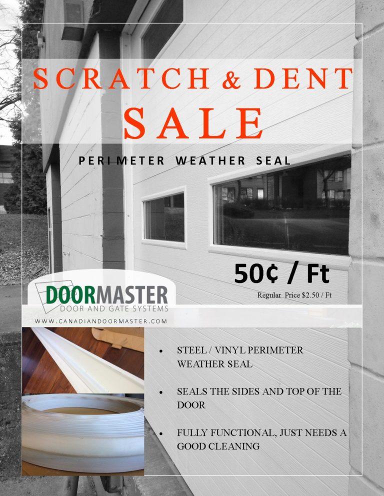 Weather sealing for garage doors (SALE)