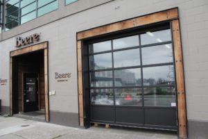 Commercial garage door installation in North Vancouver