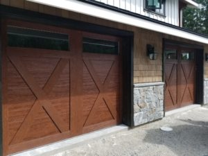 sechelt clopay garage door wood grain