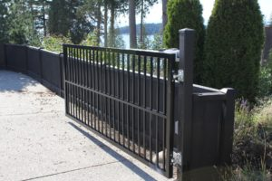 Residential swing gate installation