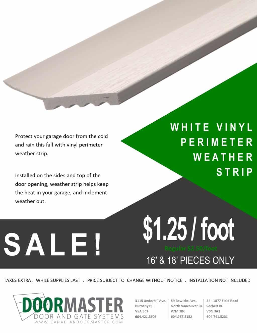Weather Strip Promotion [SALE]