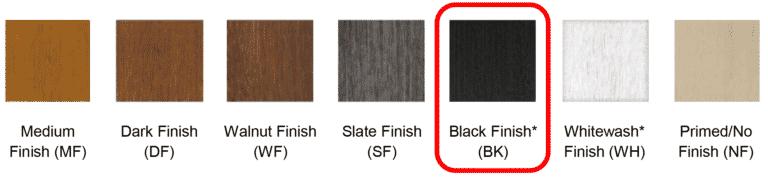 Clopay new black finish
