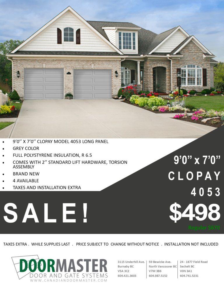Clopay 4053 sale Vancouver BC