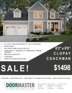 Coachman garage door sale Vancouver BC