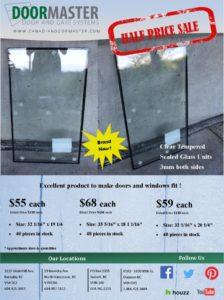 garage door glass sale