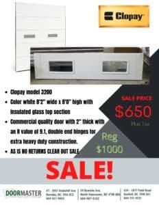Clopay garage door sale