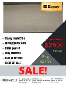 Clopay wood garage door on sale in Vancouver