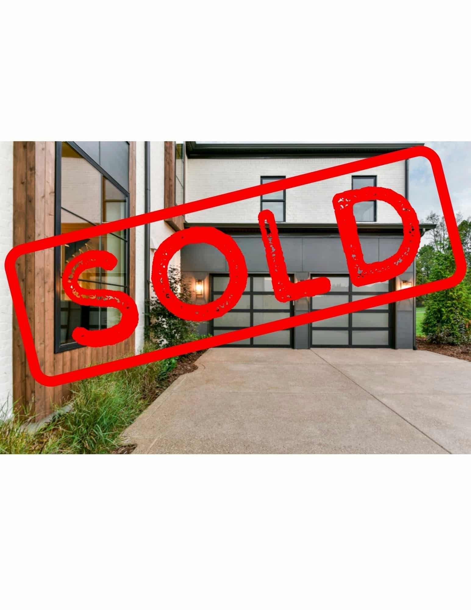 [SOLD] Brand new Clopay aluminum black garage door with frosted glass.