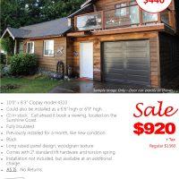 """Black 10' x 8'3"""" Clopay Garage Door [Sale]"""