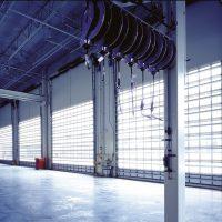 large installation rolling garage doors