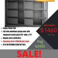 Clopay garage door sale Vancouver