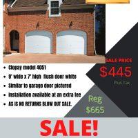 Clopay 4051 - 9' wide x 7' high