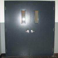 Hollow core metal doors
