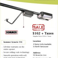 Garage door opener Vancouver sale