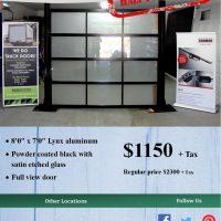 8' x 7' Lynx Aluminum Garage Door