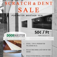 Weather sealing for garage doors (SALE)